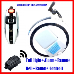 Smart Burgler Alarm Warning Tail Light Rechargable Battery Flash Light Accessaries for Solo Wheel Hoverboard Ninebot one c+ e +